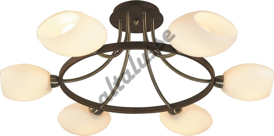 INL 9209C-6 ANTIQUE BRASS - WALNUT