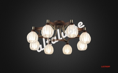 INL 9246C-08 ANTIQUE BRASS - WALNUT