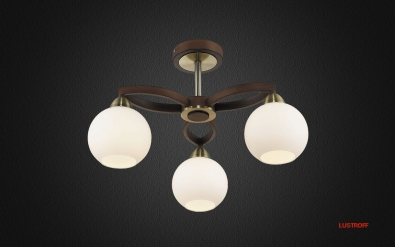 INL-9268C-03 Antique Brass & Walnut
