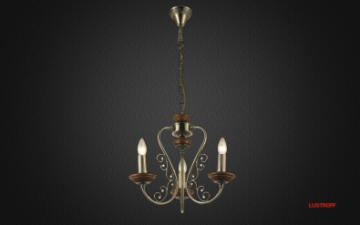 INL-6110P-03 Antique brass & Walnut