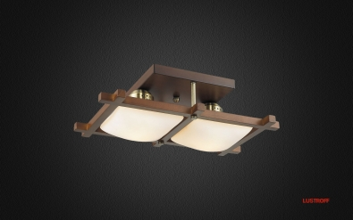 INL-3092C-02 Antique Brass & Walnut