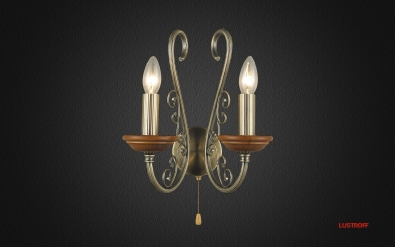 INL-6110W-02Antique brass & Walnut