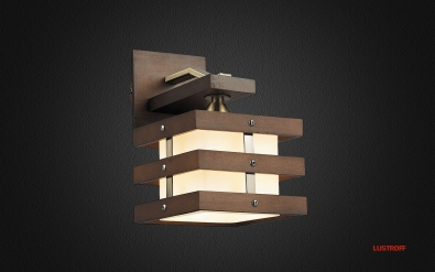 INL-9215W-01 Antique Brass & Walnut